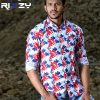 White All Over Printed Cotton Slim Fit Casual Shirt for Men (CSLS 51)
